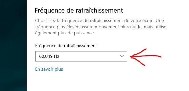 كيفية تغيير معدل تحديث الشاشة